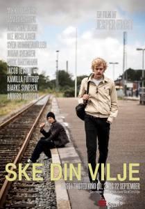 Mikkel Vinther på plakaten for Ske Din Vilje, Mikkel Vinther og Jesper Frosts første film.