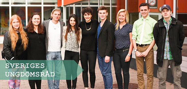 Sveriges Ungdomsråds bestyrelse Foto: Sveriges Ungdomsråd