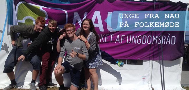 Unge fra NAU på Folkemøde