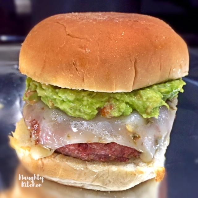 Vegetarian Guacamole Cheeseburger