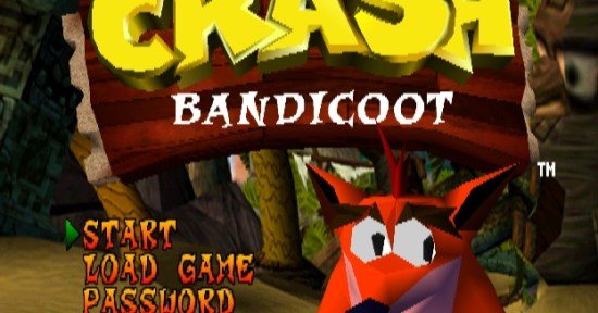 Menu Crash Bandicoot