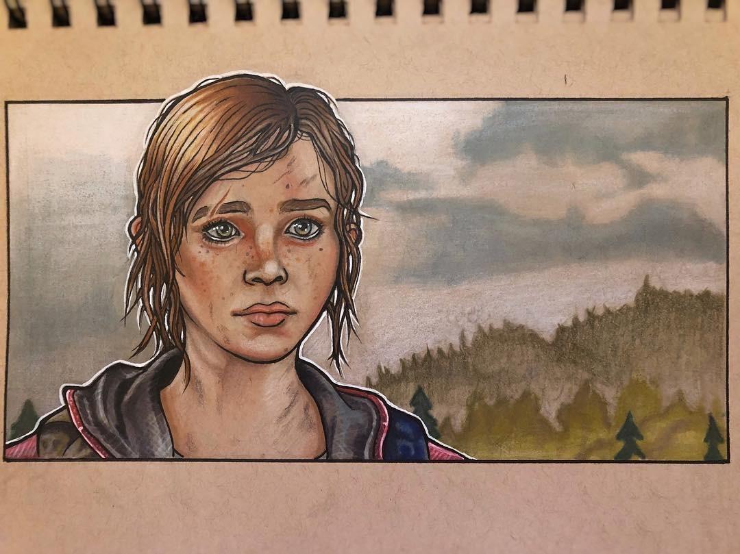 Fan Art Friday Matthew Lovering Elie The Last Of Us