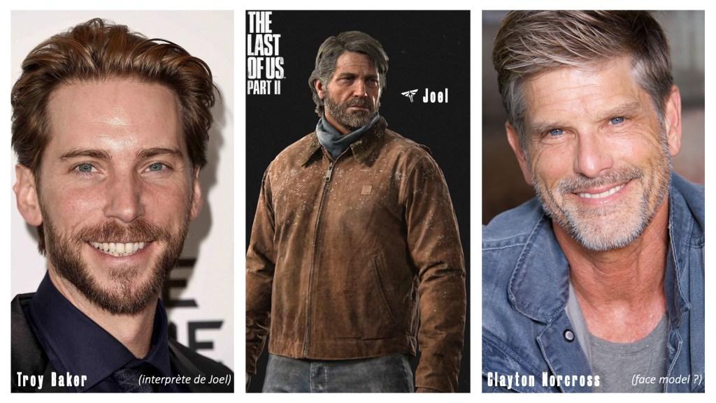 Le personnage de Joel et le visage de ses interprètes et/ou modèles