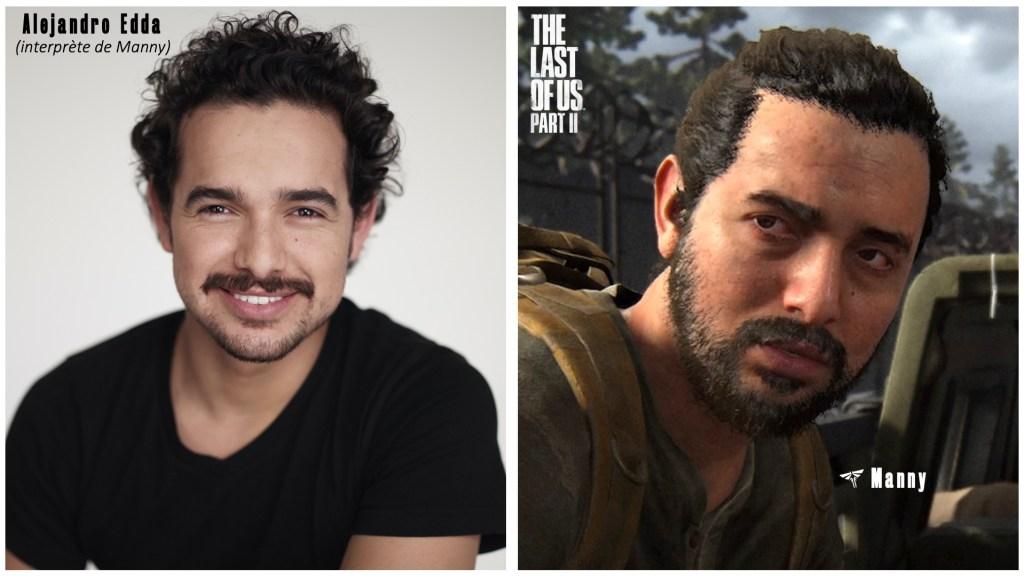 Le personnage de Manny et le visage de son interprète et/ou modèle