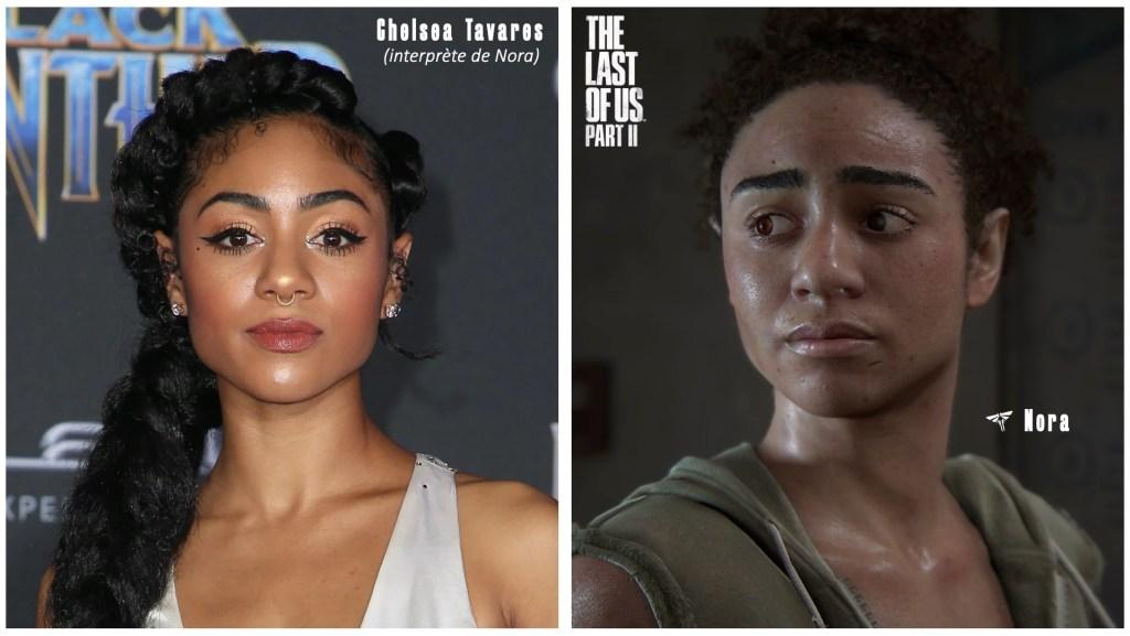 Le personnage de Nora et le visage de son interprète et/ou modèle