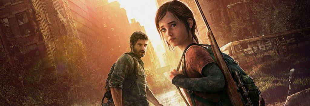Jaquette de TLOU1 (Naughty Dog, 2013), avec Ellie et Joel regardant derrière eux