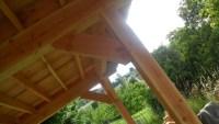 terrasse en bois à Saint Paulien