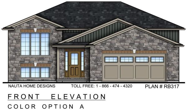 3 Bedroom Raised Bungalow House Plan RB317 1332 Sq Feet