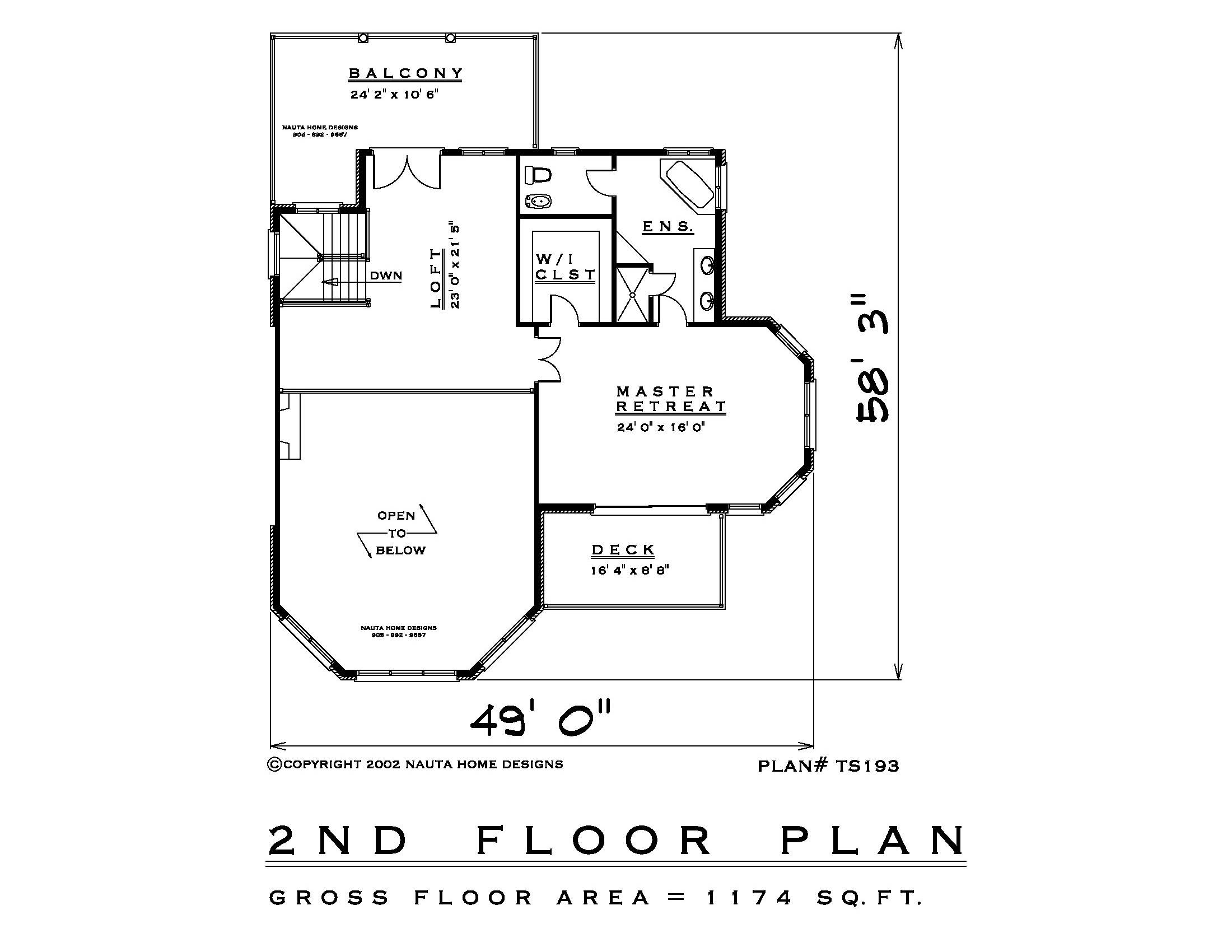 1 Bedroom Two Storey House Plan Ts193