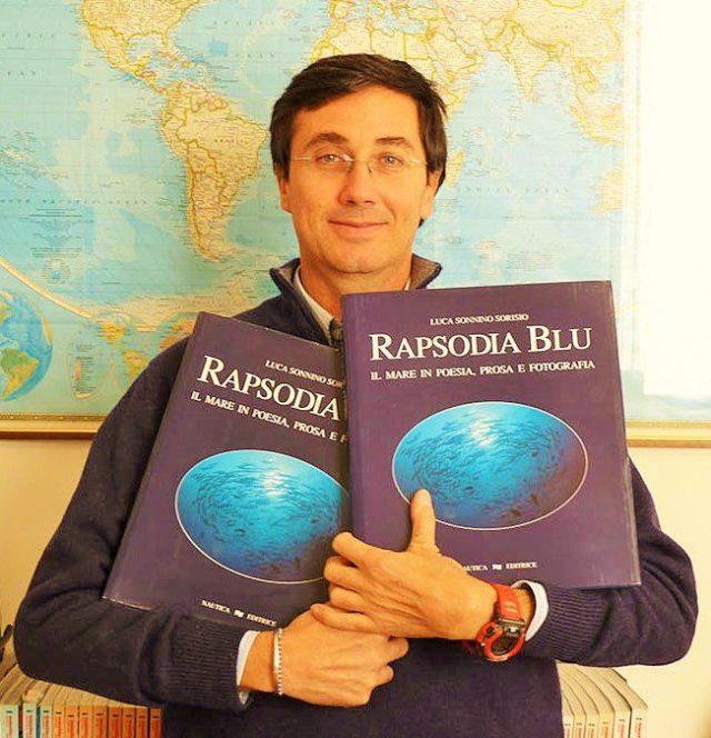 Luca Sonnino Sorisio con il suo libro Rapsodia Blu