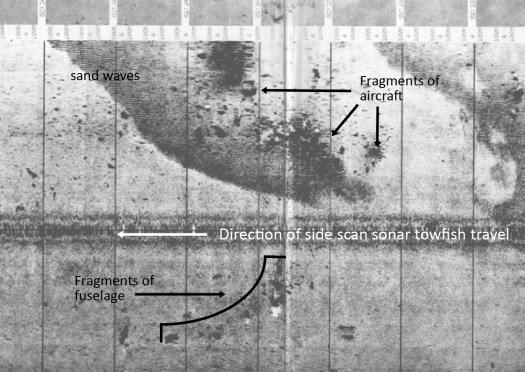 Side scan sonar image collected by NOAA Ship Rude