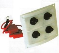 b5 028 4 marine toggle switch panel - Switch Panel AAA 4 switch 8x9 in WHT