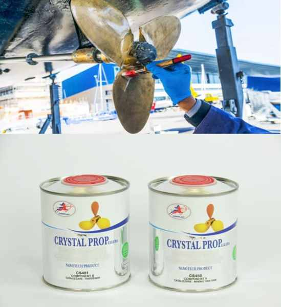 Vernice per eliche barche anti correnti galvaniche e antivegetativa a lunga durata