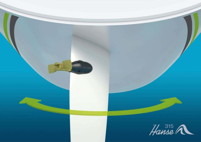 Hanse emotion rudder drive