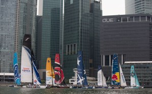 Extreme Sailing Series : Finding the right formula on the opening day in Singapore