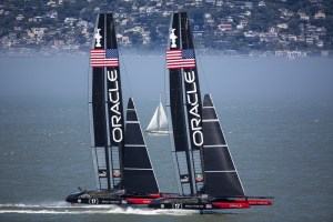ORACLE TEAM USA sails two AC72s in San Francisco