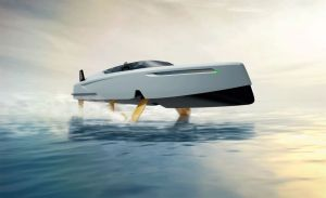 The flying motoryacht, Foiler 41, is now available for order