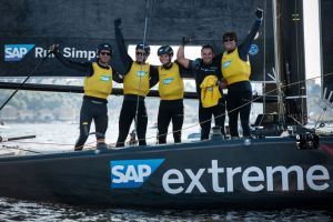 SAP Extreme Sailing Team triumphs in Cardiff to reclaim 2017 lead
