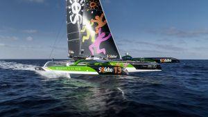 SODEBO ULTIM 3 au départ de la Rolex Fastnet Race