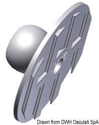 Anello Trazione Bronzo Cromato 90 X 40 Mm 39 118 00 Osculati