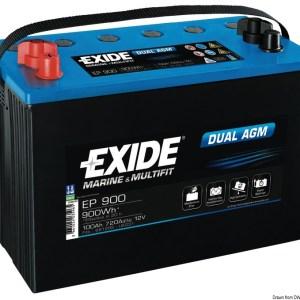 Batteria Exide Agm 100 Ah 12 412 02 Osculati