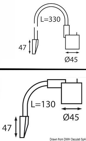 Luce Flessibile Nera 330 Mm 12 V 13 239 04 Osculati