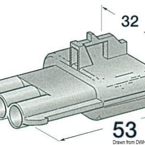 Connettore Stagno Femmina 2 Poli 14 235 30 Osculati