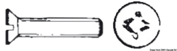 Metallo Tsp Croce 6x60 Mm Aisi 316 Osculati