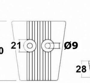 Anodo Alluminio Piede Volvo Sx Dps 43 554 22 Osculati