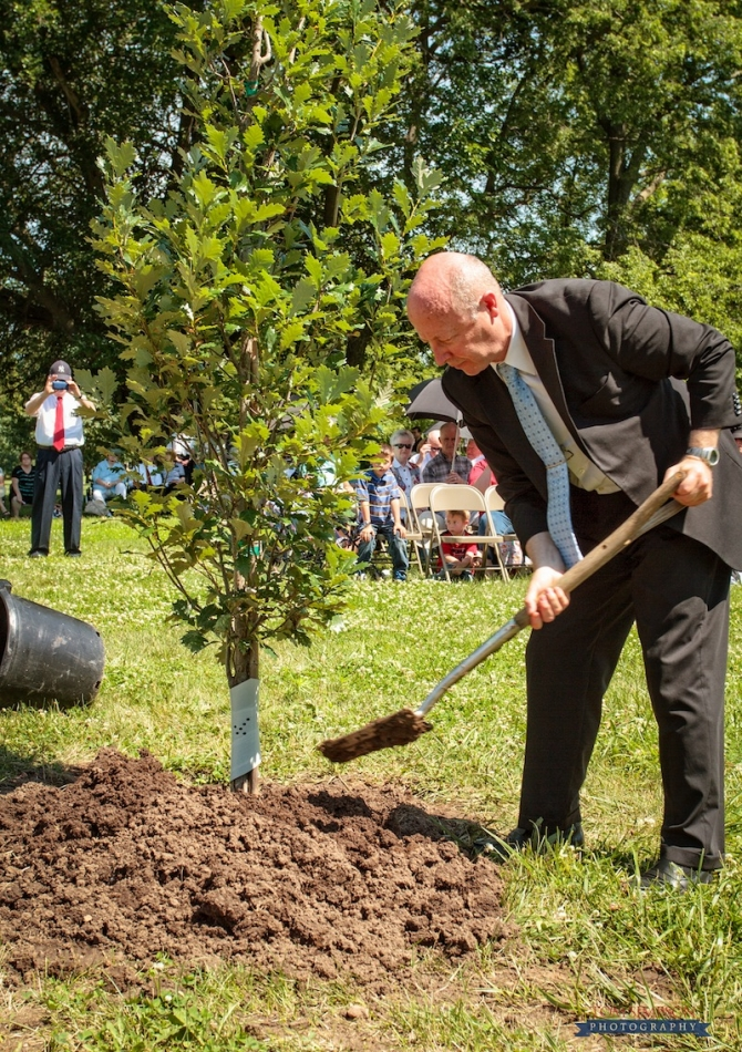 tree planting commemorating theodore turley in nauvoo photo by tom simpson