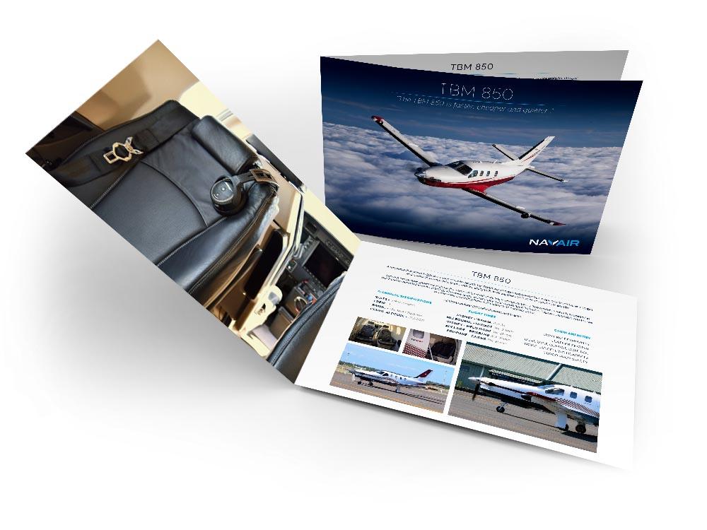 A4 Horizontal Brochure Mockup