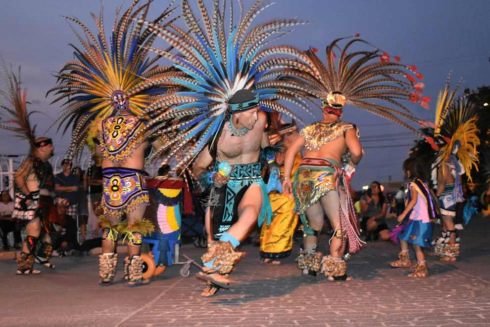 "Navajo Times | Rima Krisst Aztec Dancers shine in the ""Night Parade."""