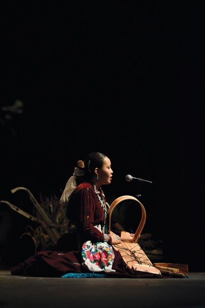 Navajo Times | Ravonelle Yazzie Kiana Boyd, contestant for Miss Gallup Inter-Tribal Indian Ceremonial, talks about the history of the Navajo cradleboard as her traditional talent.