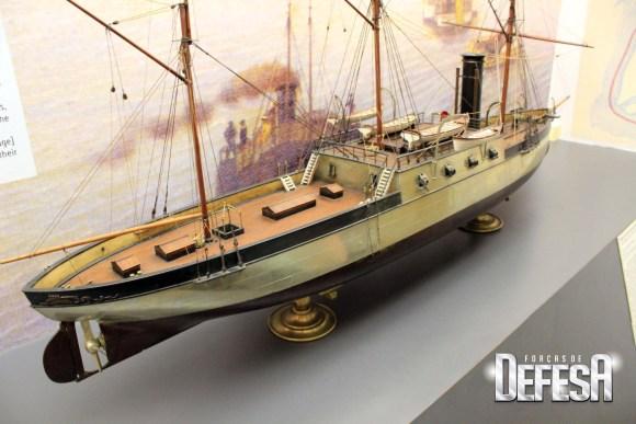 corveta encouraçada Brasil - maquete Museu Naval RJ - foto 2 A Galante