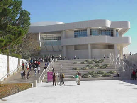 Getty entrance