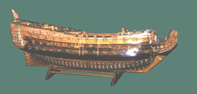 Early ship construction model