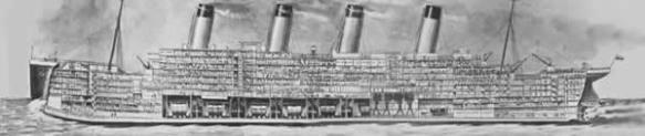 Titanic cutaway