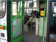 Trolleybus turnstile