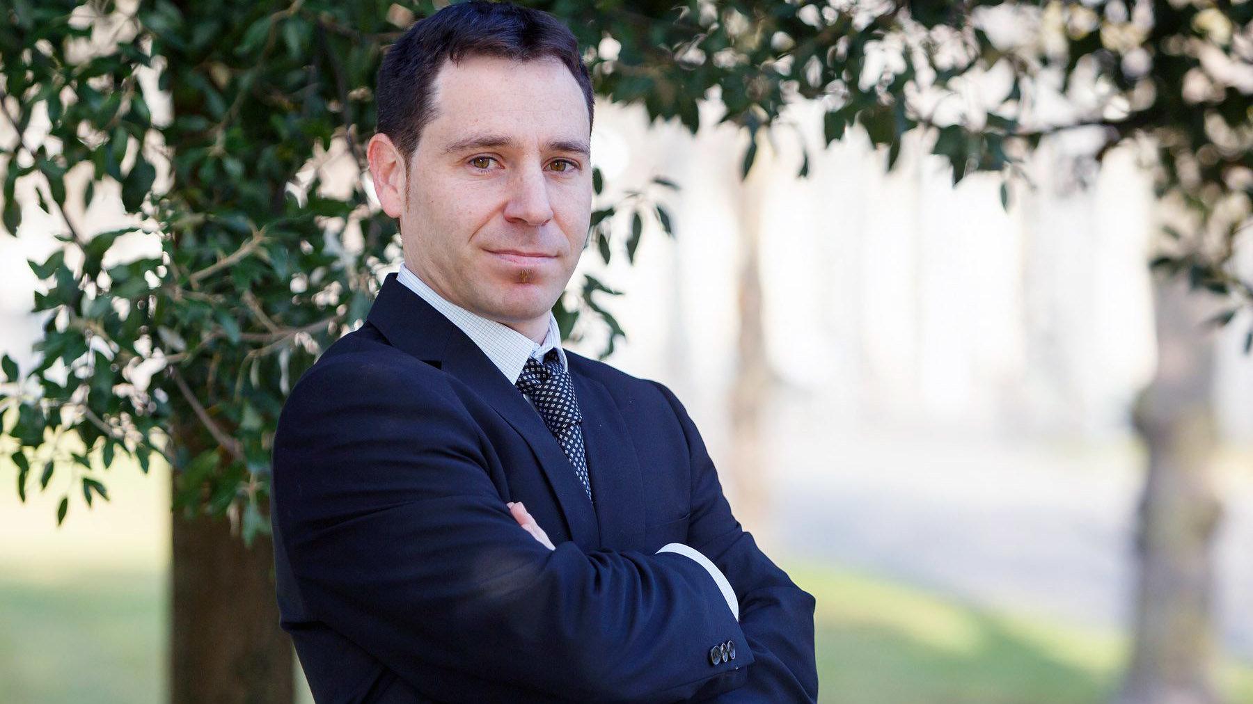 El ingeniero Aitor Urrutia Azcona, en la UPNA.
