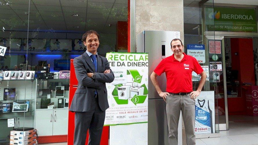 Campaña CaixaBank ANCDE reciclaje electrodomésticos.