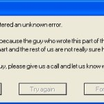 Computer error messages