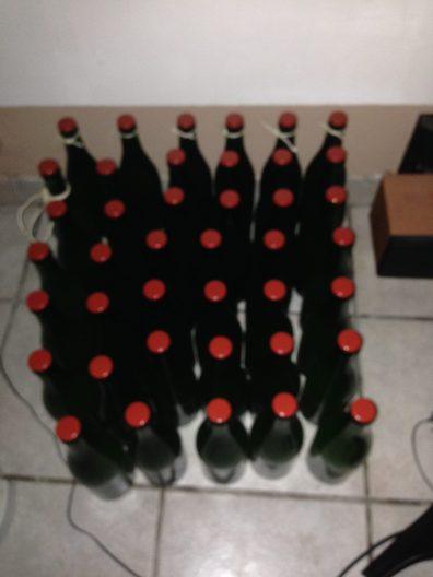 La production des 2 batch 30 et 5 litres