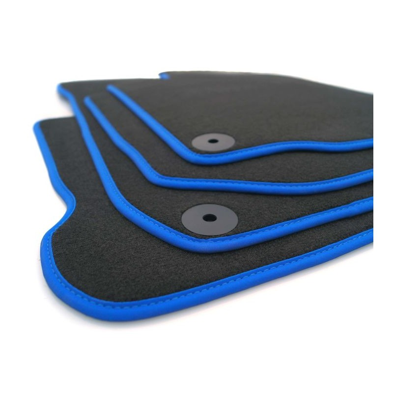 tapis golf 7 gti gtd r 2012 2019 d origine vw noir avec contour bleu