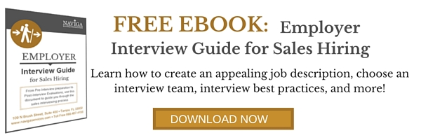 Free eBook - Employer Interview Guide for Sales Hiring
