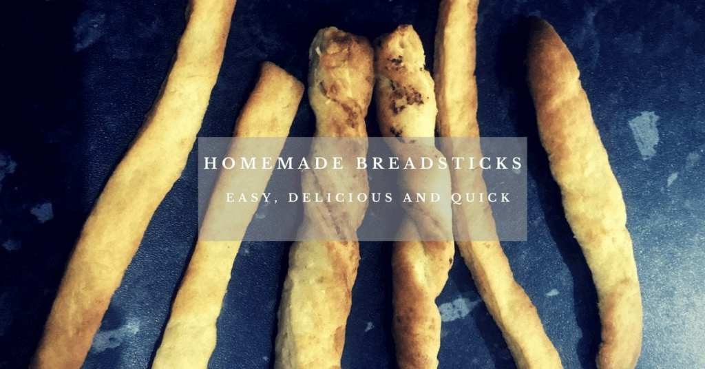 Homemade breadsticks afterschool snack