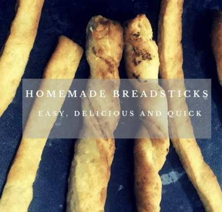 Homemade breadsticks afterschool snack