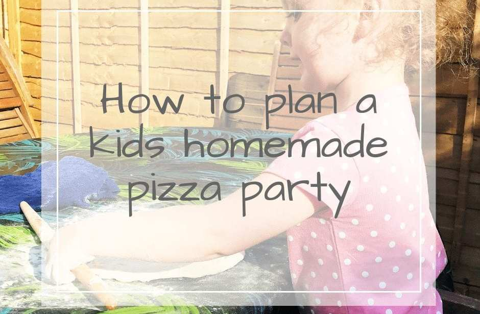 kids homemade pizza party