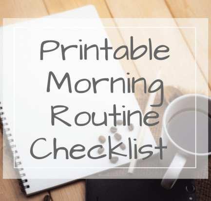 Morning Routine Checklist Printable