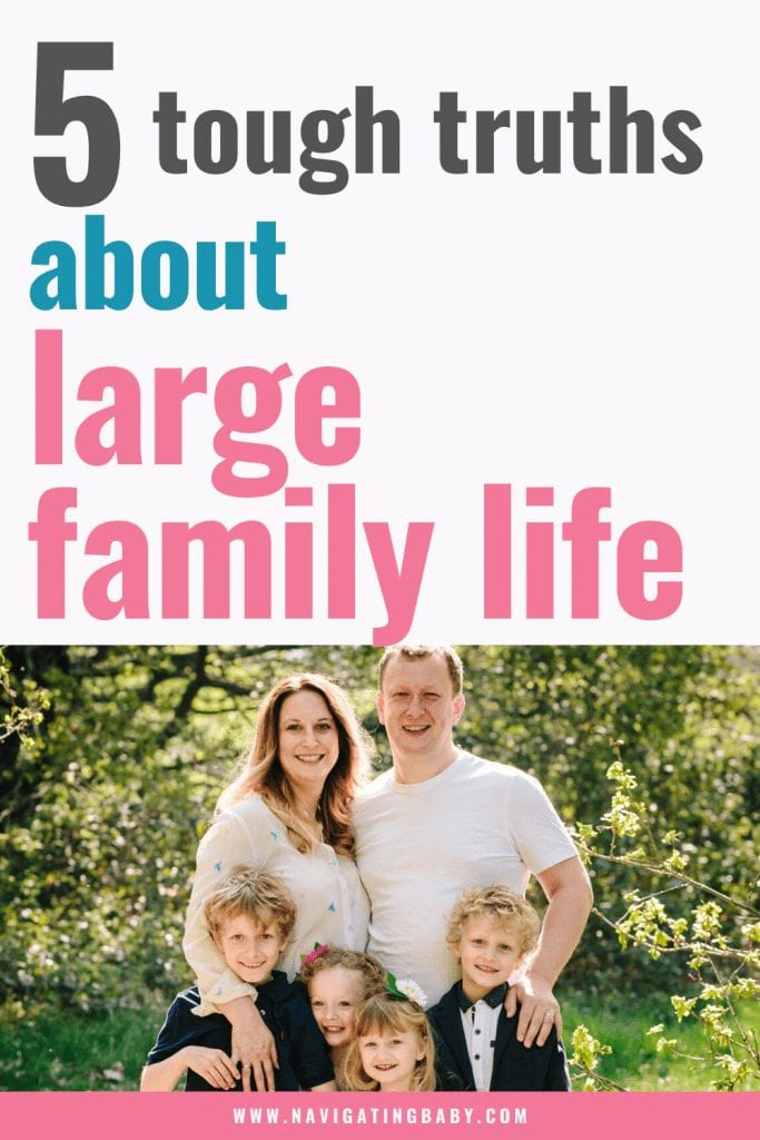5 Tough truths about large family life