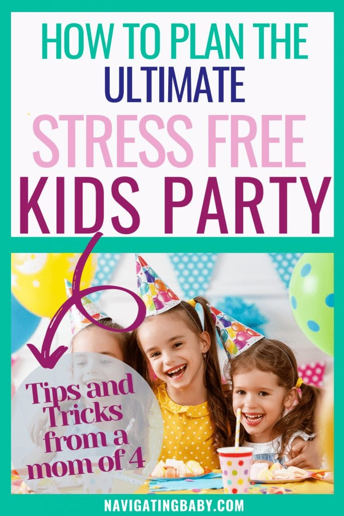 stress free Childrens party planning